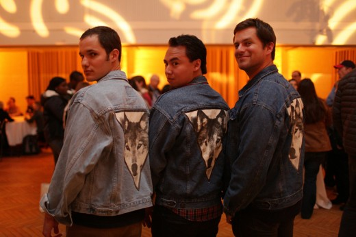 Filmmakers sporting super sweet wolf jackets!