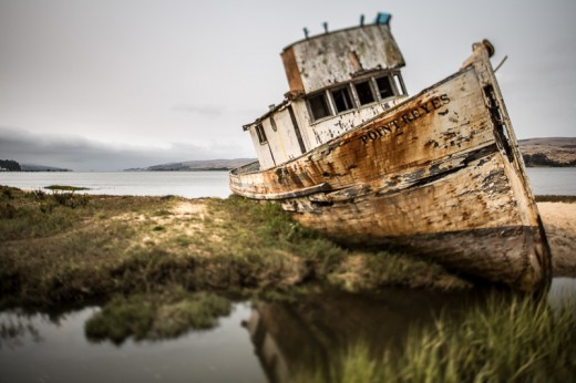 the Point Reyes in its final resting place near Inverness, California