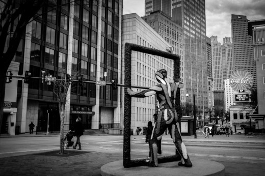 Sculpture near Atlanta Underground