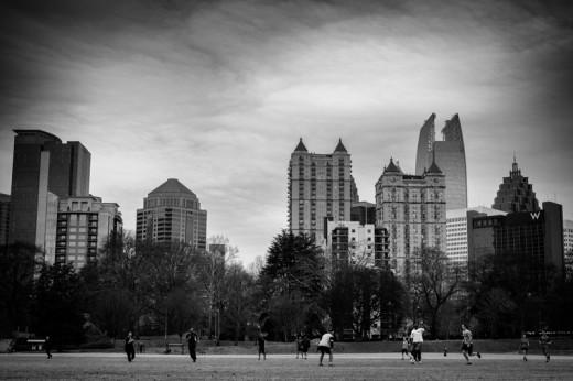 Soccer in Piedmont Park, Atlanta
