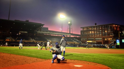 Sunset, Durham Bulls Athletic Park