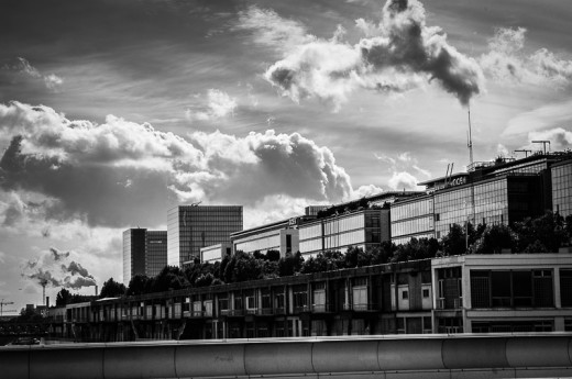French Industry and Dramatic Clouds, Paris